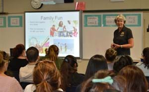 GGUSD member giving presentation to parents.