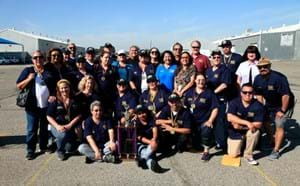 GGUSD bus drivers celebrating their win at the Annual Roadeo.