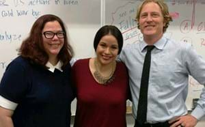 Three Pacifica Civic teachers.