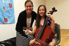 music teach with student