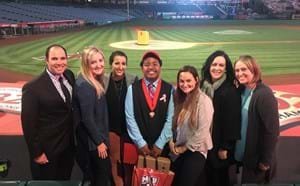 Scholarship recipient honored at the Anaheim Angels Stadium