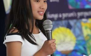 Murdy student giving a speech.
