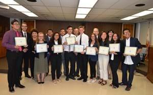 Simon scholars receiving recognition.