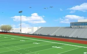 Virtual image of updated Garden Grove Monsoor Memorial Stadium.