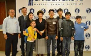 Vietnamese prisoner of conscience along with his family and board members.