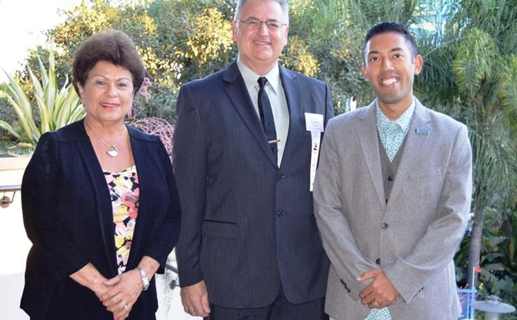 Two board members and teacher honored as teacher of the year.