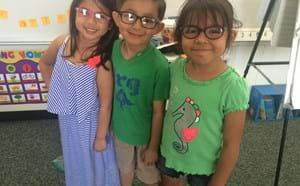 Three kindergarten students.