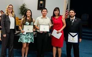 Students recognized in ceremony.