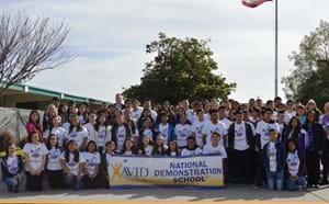 Santiago High School celebrates being named an AVID National Demonstration School in 2017.