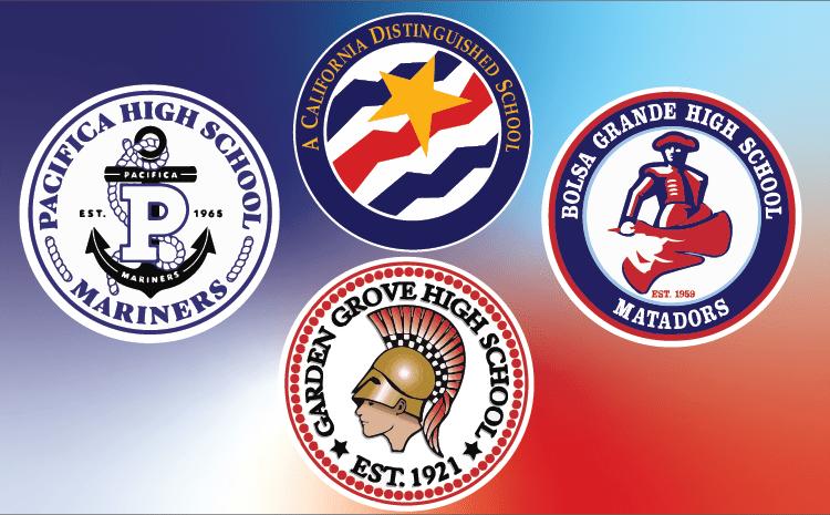 High Schools and Distinguished School Logos.
