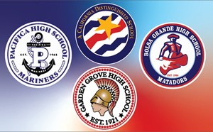 High Schools and Distinguished School Logos.