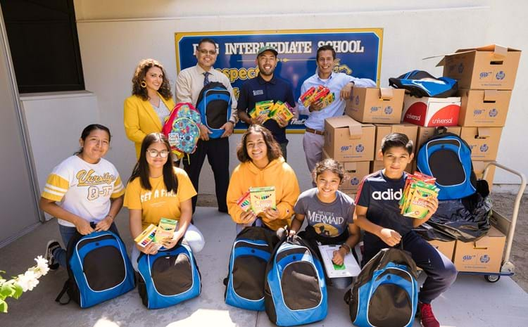 Garden Grove Unified School District Students Receive Gift of School Supplies