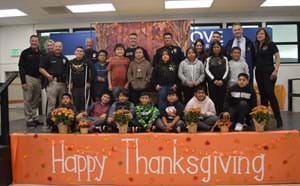 Clinton students celebrate thanksgiving meal