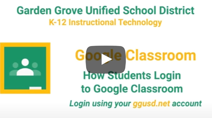 How Students Log In to Google Classroom video thumbnail