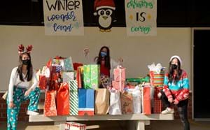 Pacifica students with gifts